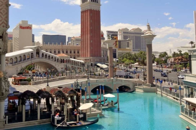 Gondoles Venetian Strip Las Vegas